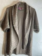 Derek Heart Maternity Open Cardigan Taupe Size XL - $14.01