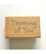 Studio G THINKING OF YOU Rubber Stamp Text Sentiments Well Wishes Card W... - $2.97