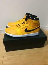 NIKE Air Jordan 1 Mid Yellow Men's Sneaker US Size 9.5/27.5cm Brand New/... - $320.00