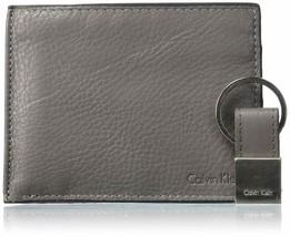 Calvin Klein CK Men's Leather Key Fob Bifold Wallet Keychain Gift Box Set 79431
