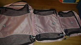 LOT OF 3 HEYS  PACKMATE ORGANIZER BAGS PINK - $18.50