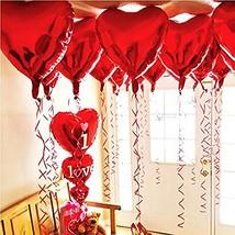 BinaryABC Foil Balloons,Love Heart Shape Helium Valentines Wedding Birth... - $8.10