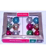 """Vintage 3/4"""" Mini Shiny Brite Glass Christmas Ornaments IOB # 9 - Japan - $12.99"""