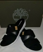 Timberland Women's Wilesport Slip On Black Leather Sandals Slide Size 9 ... - $51.43
