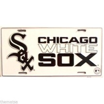 CHICAGO WHITE SOX LOGO MLB BASEBALL LICENSE PLATE MADE IN USA - $27.07