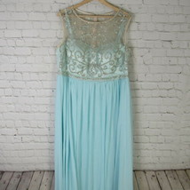 Decode 1.8 Dress Womens Size 18 Green Beaded Illustion A Line Gown MSRP ... - $140.02
