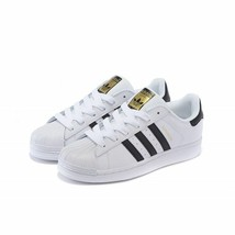 "ADIDAS SUPERSTAR ""WHITE/BLACK"" MEN'S US SIZE 8 STYLE# C77124 - $74.20"