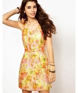 Free People Gold Rose Brocade Women's Dress Size 6 Brand New - $70.00
