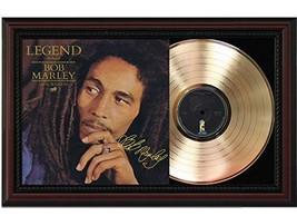 Bob Marley - Legend Cherrywood Framed Gold Lp Signature Display Lennon McCartney - $151.95