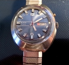 Vintage Slava watch Automatic 27 jewels rare asymmetrical case mechanica... - $59.99