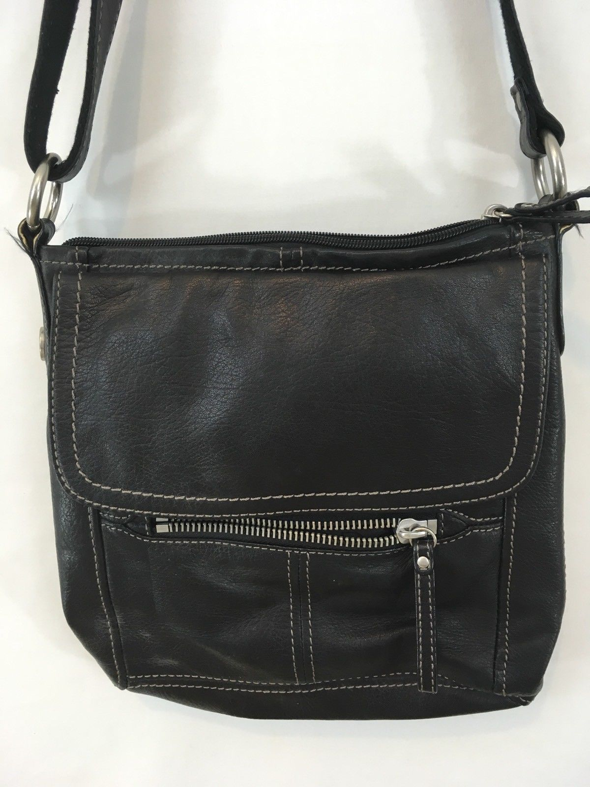 ce5ce6e823dd S l1600. S l1600. Previous. Fossil Issue No. 1954 Long Live Vintage Black  Leather Satchel Tote Purse Handbag