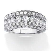 PalmBeach Jewelry 1.26 TCW CZ Ring in Platinum over .925 Sterling Silver - $33.82
