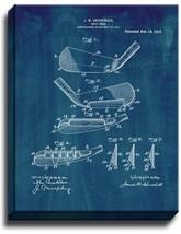 Golf Iron Patent Print Midnight Blue on Canvas - $39.95+
