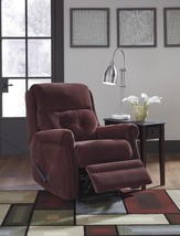 Ashley Gorham 18803 Glider Recliner in Mulberry Fabric Contemporary Style - $696.60