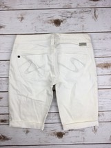 Silver J EAN S Shorts Buckle Low Rise Santorini Stretch White Denim Jean Short 26 - $17.85