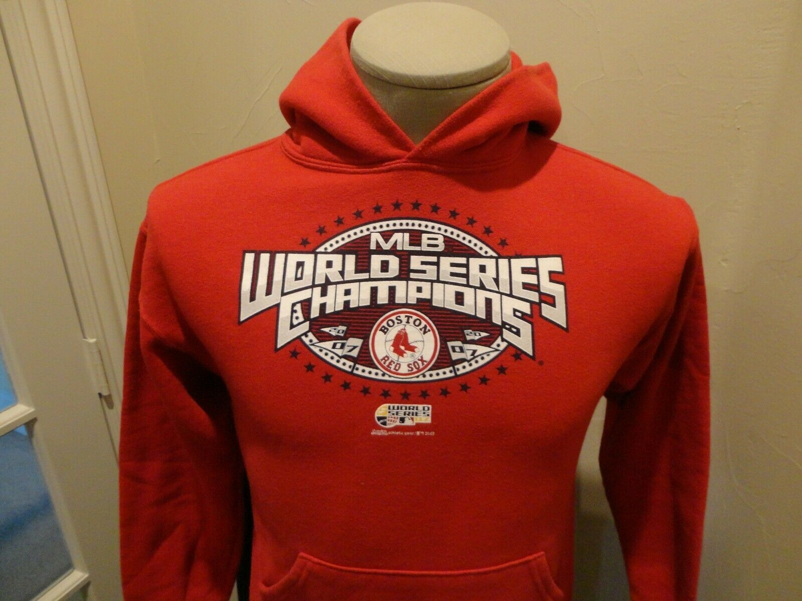 Primary image for Red 2007 World Series Champs Boston Red Sox MLB 50-50 Hooded Sweatshirt Youth L