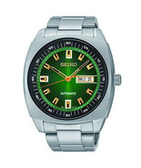 New Seiko SNKM97 Recraft Green Dial Stainless Steel Automatic Men's Watch - £119.76 GBP