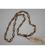 "Monet Gold Tone Sparkling Light Topaz 18"" Link  Necklace  NEW  J278 - $28.00"