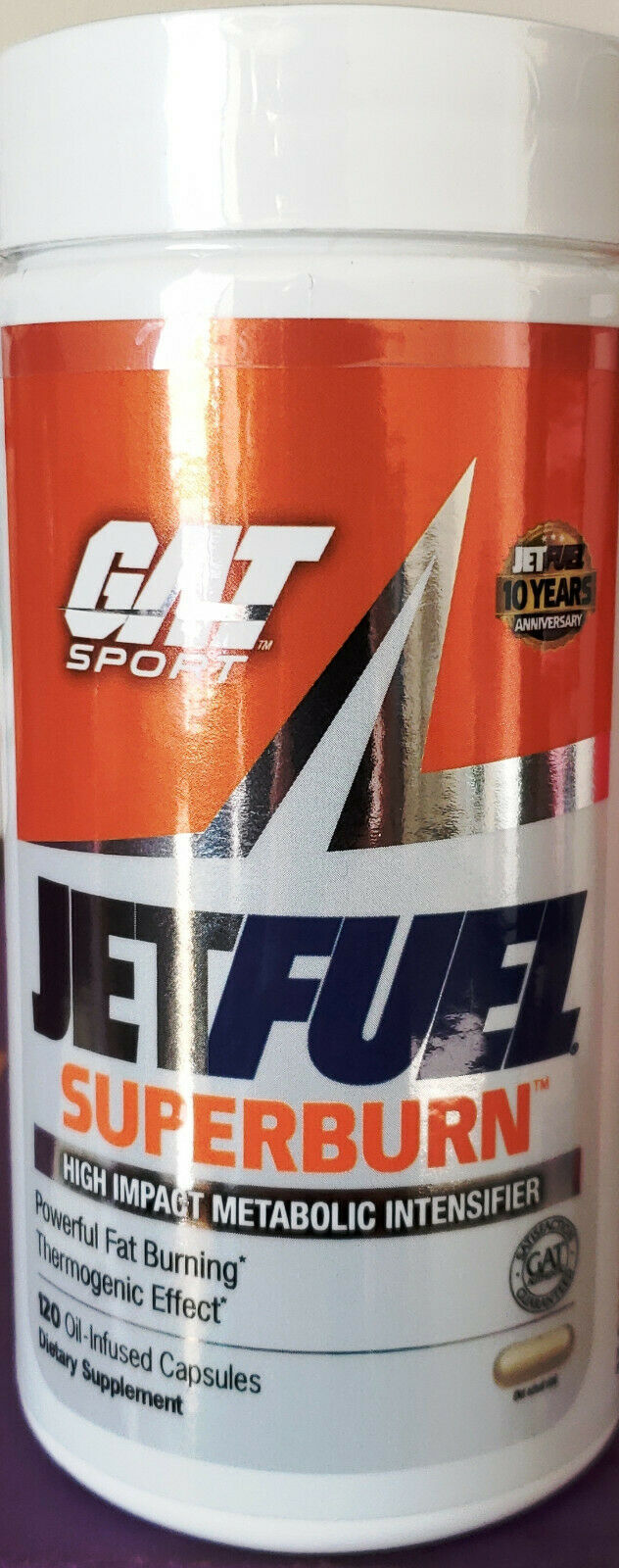GAT Jetfuel Superburn Ultra Premium Fat Burner, 120 Oil-Infused Capsules image 2