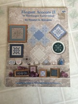 Vintage Elegant Accents II in Hardanger Embroidery Booklet Nordic Needle... - $7.70