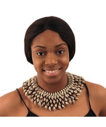 """Cowrie Shell Collar Necklace - Polished Shells, 5 Layers, Fits up to 16""""... - $109.99"""