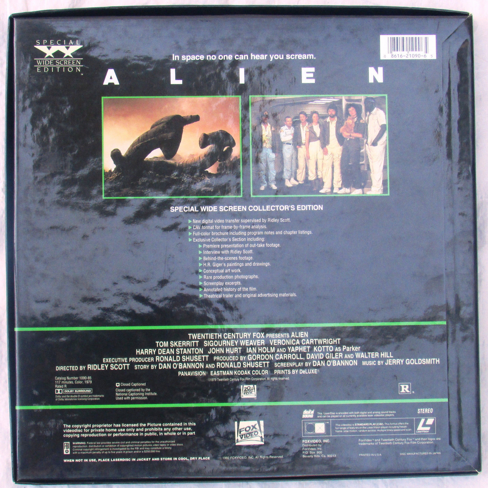 Alien on Laserdisc Sigourney Weaver Space Adventure Movie