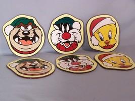 "Looney Tunes coasters Set of 6 (Tweety, Sylvester Taz X 2) approx. 4"" ac... - $8.10"