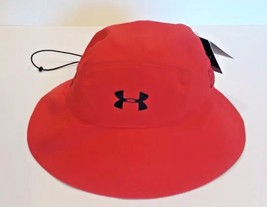 Under Armour ArmourVent Red Bucket Hat UPF30 One Size - $24.74