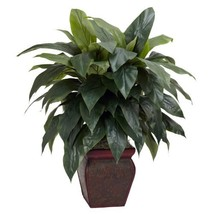 Nearly Natural 6688 Cordyline with Vase Decorative Silk Plant, Green - $95.43