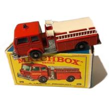 1960s Matchbox #29 Fire Pumper Truck in Box  - $36.95