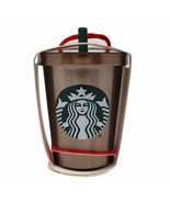 New Starbucks 2018 Glitter Steel Cold Cup Holiday Christmas Tree Ornament - $19.79