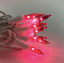 100 Pink Miniature White Wire Holiday Lights (as) - $44.54