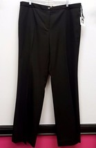 ANNE KLEIN Size 16 Black Career Work Dress Pants Slacks Trousers - $42.99