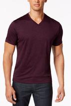Alfani Men's V-Neck T-Shirt, Chinese Eggplnt, Size M, MSRP $45 - $19.79