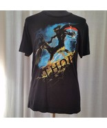 Thor Mens Large Black Tee Shirt Mighty Avenger Big Hammer Marvel Studios - $8.50