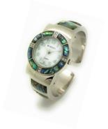 Ladies Silver Metal Bangle Cuff Fashion Watch with Stones Pearl Dial Wincci - £59.88 GBP