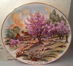 American Homestead - Spring Currier & Ives America Collector Plate w/ COA - $9.75