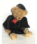 Vermont Teddy Bear Company Brown Bear with Black Graduation Gown and Cap... - $79.99
