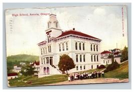 Vintage Early 1900's Postcard High School Astoria Oregon - $15.81