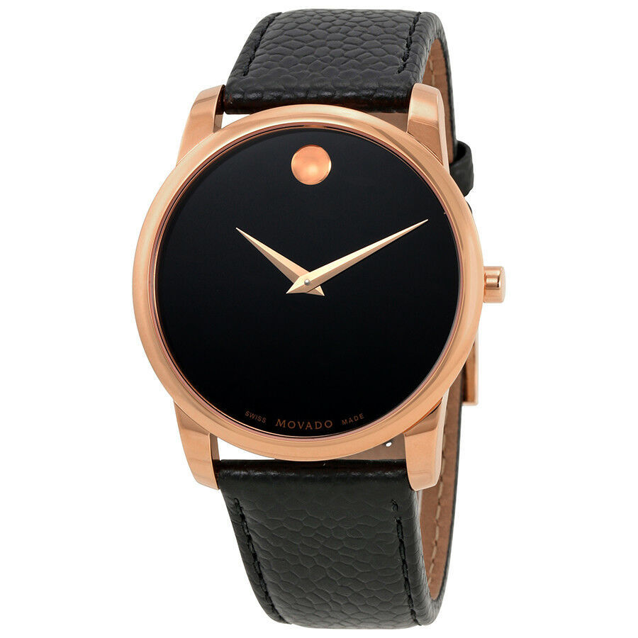 Movado Men's 0607060 Museum Black Leather Watch