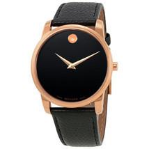 Movado Men's 0607060 Museum Black Leather Watch - $342.16