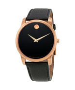 Movado Men's 0607060 Museum Black Leather Watch - ₹25,840.97 INR