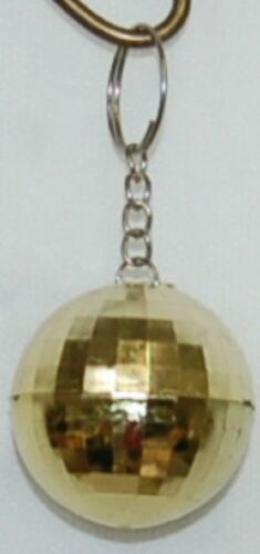 Generic Brand Golden Mirror Disco Ball Keychain 3 inches Long