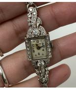 Diamond Hamilton Watch 14k White Gold Vintage Ladies Watch - $3,032.58