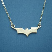 Handmade Sterling SIlver Batman Meduam Necklace - $42.00