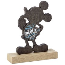 Hallmark Disney Mickey If You Can Dream It You Can Do It Quote Figurine New - $28.45