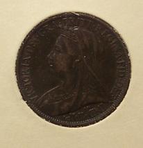 KM #788.2 Great Britain 1901 Farthing EF #01170 - $4.79