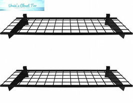 HyLoft 00291 45-Inch by 15-Inch Slat Wall Shelf, 2-Pack, Black (Slat Only) - €83,30 EUR