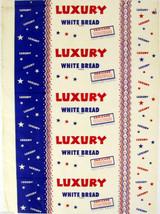 Vintage bread wrapper LUXURY WHITE BREAD Portland Oregon unused new old ... - $9.99