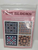 Tissue Pieced Quilt Pattern for 4 Wall Hangings, Easy McCall's Big Blocks - $19.59